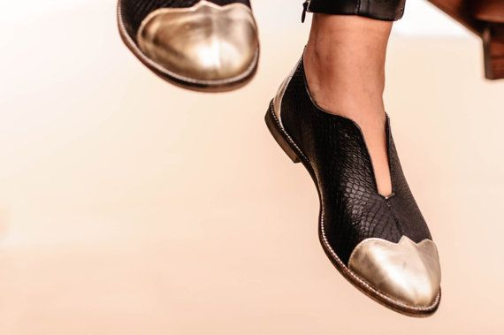 Black Oxford Flat Shoes SALE 45% OFF Black and by ImeldaShoes