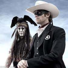 Johnny Depp's new movie coming out. The Lone Ranger. He's playing the part of Tonto