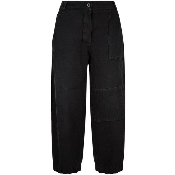 Burberry Runway Ramie Workwear Trousers (€585) ❤ liked on Polyvore featuring pants, loose pants, relaxed pants, burberry trousers, loose fit pants and workwear trousers