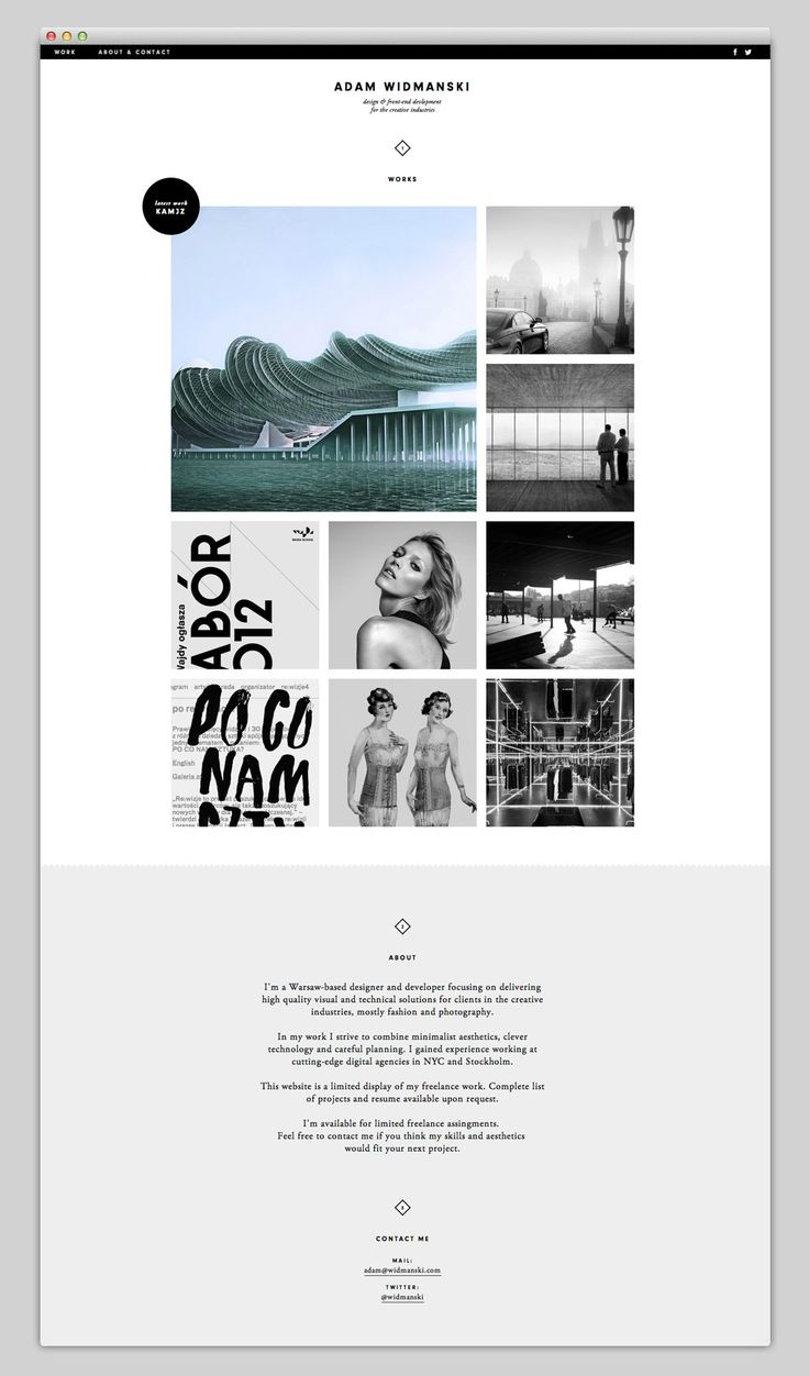 Adam Widmanski's portfolio #design #website