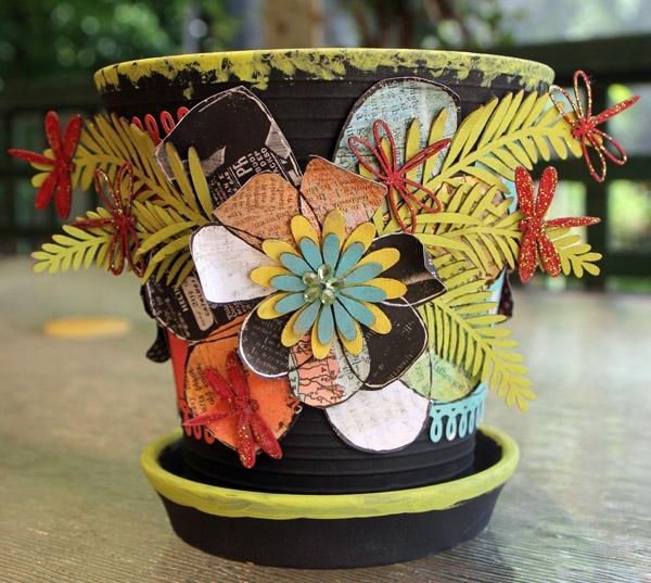 96 Best Images About Wpc Planter Pot: 96 Best Images About 'Bling' Flower Pots On Pinterest