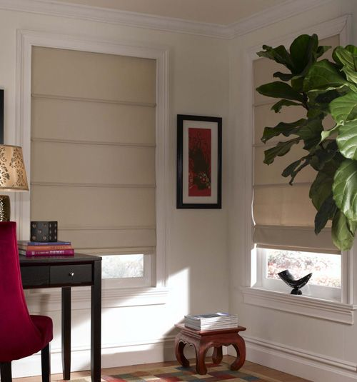 Basic doesn't have to mean boring! Roman Shades are a great way to block harmful rays and keep your home looking fresh.