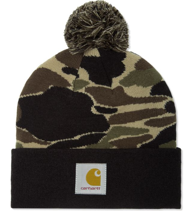 Carhartt Work In Progress (WIP) represents the forward-thinking way of living that still encompasses the classic aesthetics of the iconic brand. Acrylic/elastane pom beanie with stretchable rib-knit f...