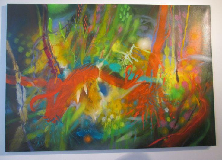 Savia y raíces Óleo sobre lienzo 115 x 165 cms 2010 Colección privada