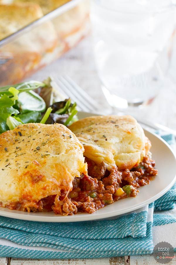Recipes With Ground Beef Lettuce Wrap: Italian Ground Beef Casserole With Biscuit Topping