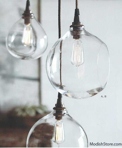 Roost Glass Bubble Lamps & Edison Candelabra Bulbs | Roost Pendant Lamps – Modish Store