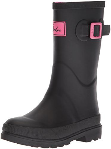 Joules Kids' Jnrfieldwl Rain Boot - Come rain or shine, our new boys' printed wellies are all set to become the first things he'll want to put on his feet. Comfy, warm, colourful and now finished with a reflective strip to the back, there's no better way to make a splash. Part of our right as rain collection.