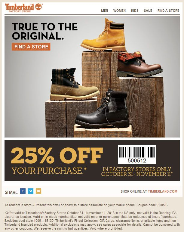 Timberland outlet coupons 2019