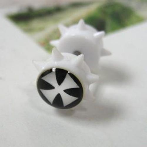 Acrylic Single Earring White - One Size
