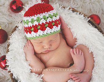 Newborn christmas hat baby boy christmas hat by emmascozyattic