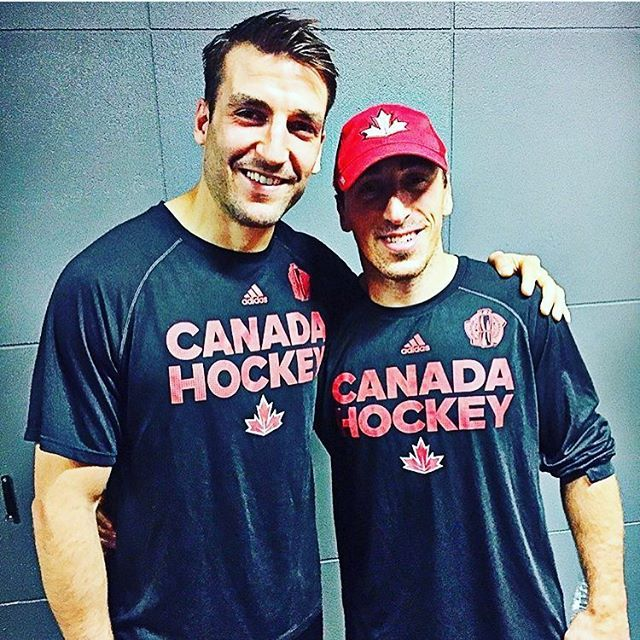 Patrice Bergeron and Brad Marchand