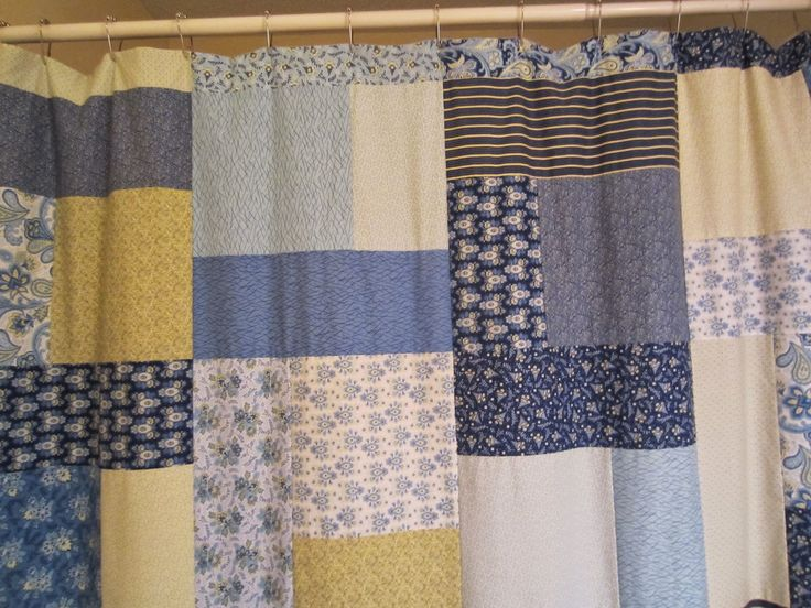 How To Make A Quilt Top Into A Shower Curtain Share Your Craft Pinterest Quilt Blue And