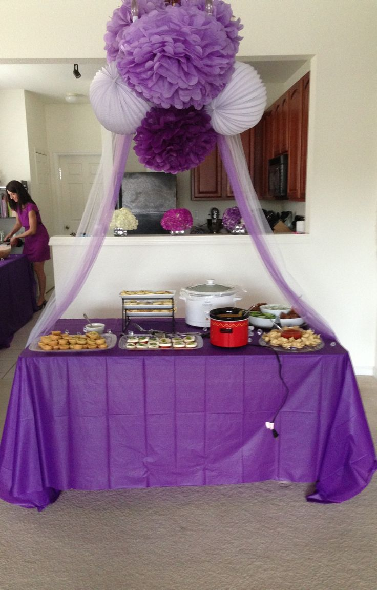 country style wedding shower ideas%0A Purple bridal shower very simple to arrange with in a small area or can be  done in a larger setting