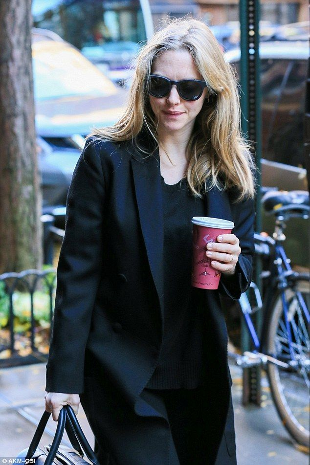 Sense of smell: Amanda Seyfried, pictured Thursday in New York, claims pregnancy has heightened her senses so much that she is able to smell her television