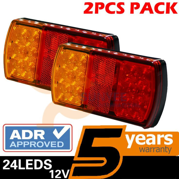 7 best trailer lights images on pinterest tail light truck and trucks pair led tail stop brake lights waterproof boat trailer caravan bar e207 12v mozeypictures Choice Image
