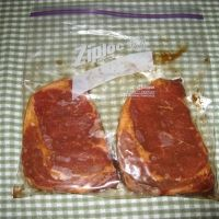 Juicy Oven Baked Steaks Recipe * If I were to make again I would have in oven longer. Steak was still bleeding in the middle*