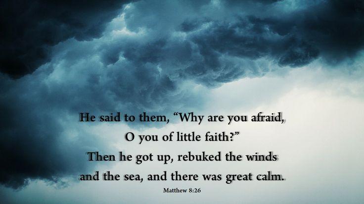 Matthew 8:26: