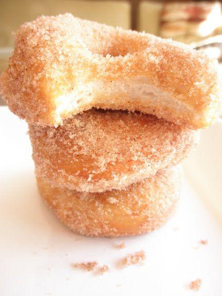 Cinnamon-Sugar Refrigerator Biscuit Donuts