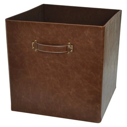 Threshold™ 13  Foldable Faux Leather Storage Bin - Set of 2 - Brown  sc 1 st  Pinterest & The 143 best Storage - TARGET Bins -Favs images on Pinterest ...