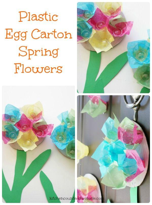 1000 images about preschool flower garden activities on for Plastic egg carton crafts