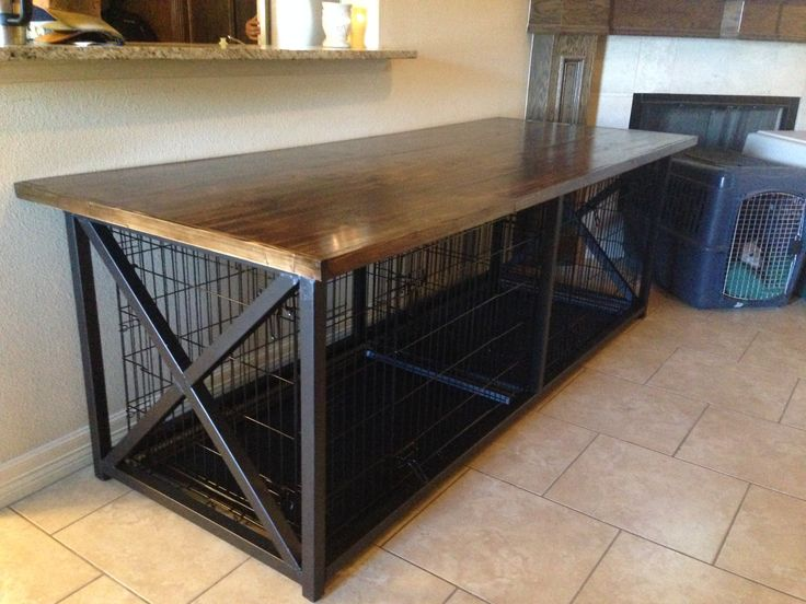 25 best ideas about custom dog beds on pinterest for 2 dog crate furniture