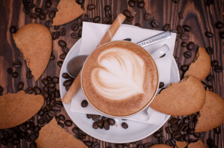 #coffee #cappuccino #coffee #lovers #heart #coffee #beans #cookie