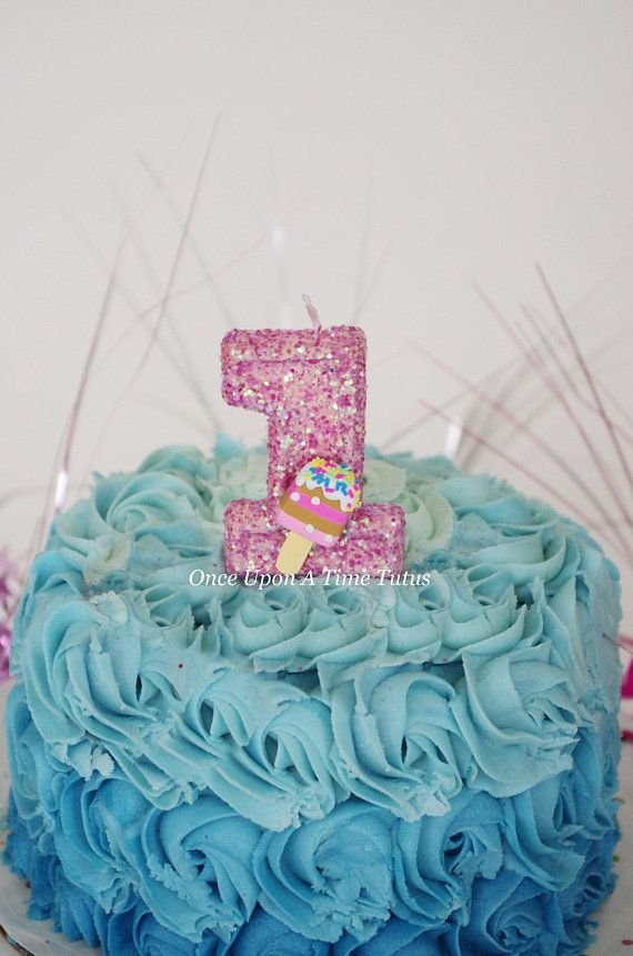 Pink Glitter Birthday Candle
