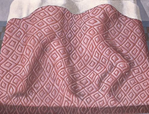 "Domenico Gnoli - ""Due dormienti"" (Two Sleepers), 1966  - acrilici on canvas"