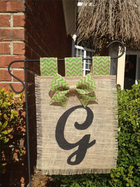 Monogram Burlap Yard Flag Give Your Garden Or Yard A Fresh Look And Feel By  Simply