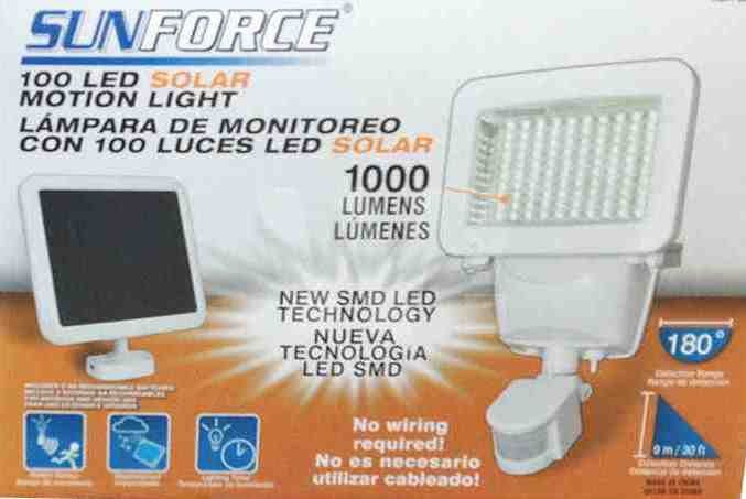Sunforce 100 LED Solar Motion Light, 1000 Lumens #SunForce