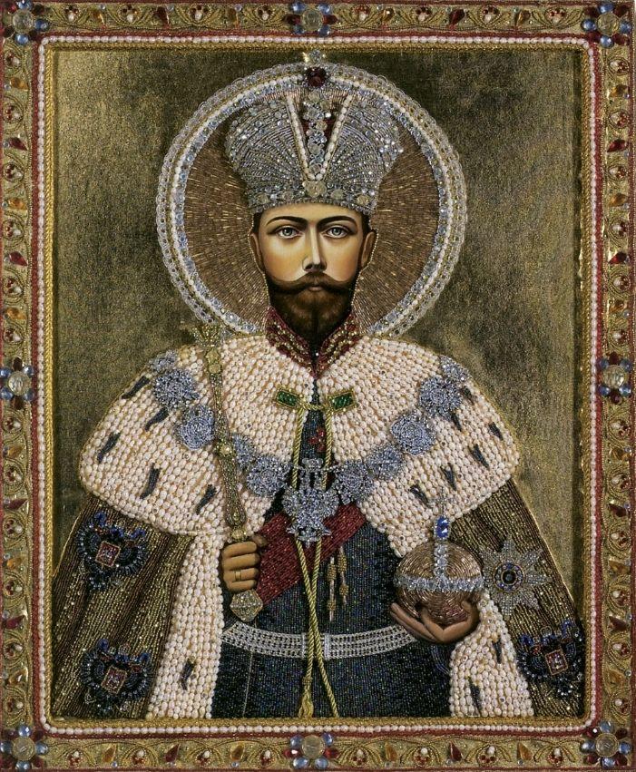 Эксклюзивная бисерная икона Св. мученик царь Николай II http://www.ikonunazakaz.ru/