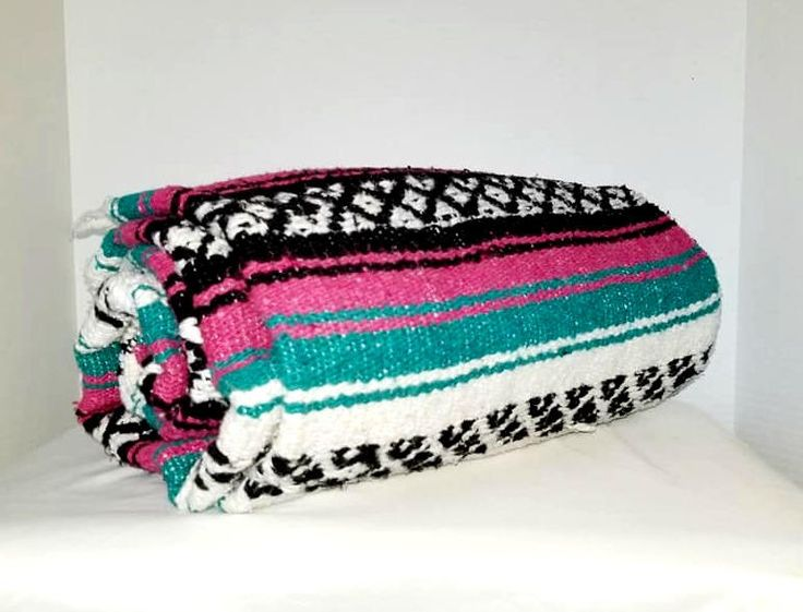Mexican Serape,Turquoise,Pink,Pendelton Style,Saltillo,Mexican Blanket,Southwestern Blanket,Falsa,Mexican Throw,Mexican Blanket,Teal Throw by JunkYardBlonde on Etsy