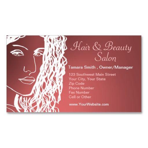 Hair & Beauty Salon Business Card Templates   My Art And Design ...