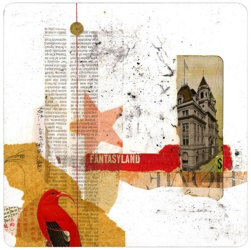 """""""Fantasyland"""" by Oiseaux, Day 8 of a beautiful series called """"Collage a Day."""""""