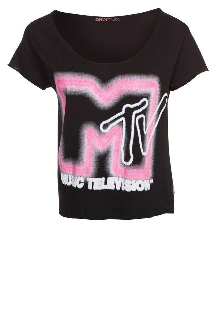 ONLY PLAY MTV Tshirt print Zwart - ONLY PLAY MTV Tshirt print Zwart