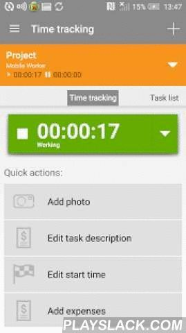Mobile Worker - Time Tracker  Android App - playslack.com ,  Mobile Worker makes your work easier and more productive.With Mobile Worker - manage projects, expenses, documents and track time! User-friendly and adaptable application is excellent for project oriented workers, contractors and field workers who need to keep track of various tasks and keep all the data in one safe place.Mobile Worker is perfect for:• Work time tracking and control • Documents gathering• Task management• Expense…