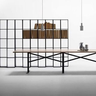 Our new Ferric Table (extended version) and Endless Shelving System to be shown at @sthlmfurnfair stand B09:21 from 9-13 February #endless #ferrictable #2016sff #2016sdw #massproductions