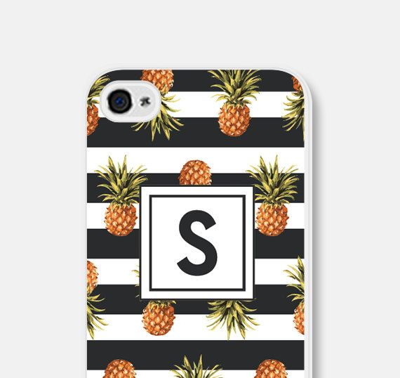 iPhone 6 Case Personalized Womens Monogram Phone Case Best Friend Teen Gift for Coworker iPhone 6s Case iPhone 6 Plus Case Pineapple (18.00 USD) by fieldtrip