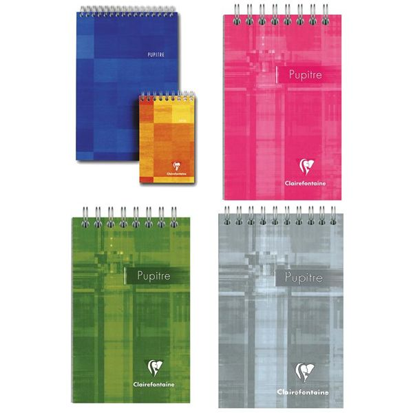 Clairefontaine 8622 3 1/4 x 5 1/2 Top Wirebound Graph Notebook