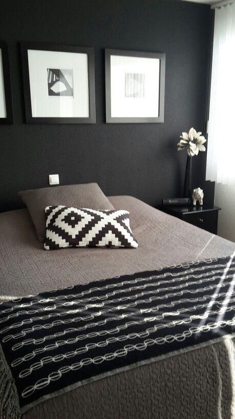 Zwart wit en grijs in de slaapkamer