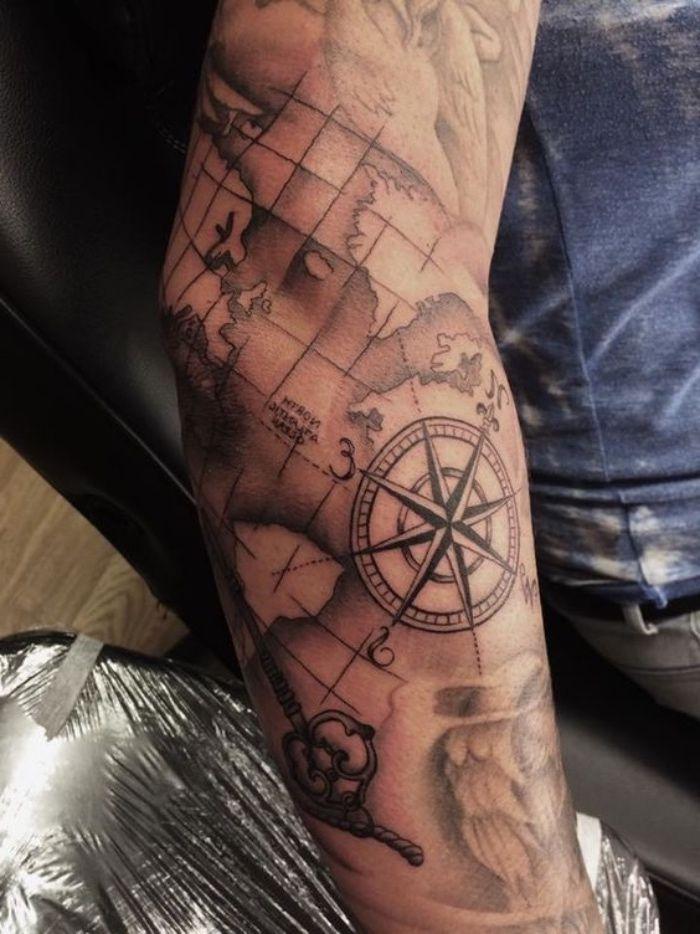 ▷ 142 + inspirierende Ideen und Bilder zu Compass Tattoo!   – Tattoos