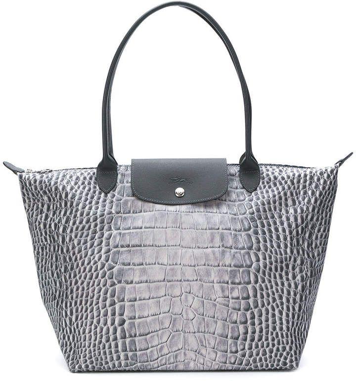 3575580c84ef Longchamp snakeskin print tote bag   Products   Printed tote bags ...