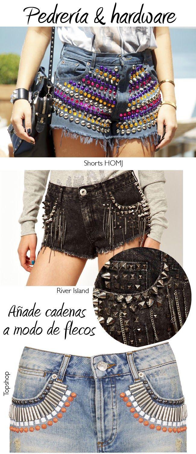 Dare to DIY: 20 ideas para personalizar tus shorts