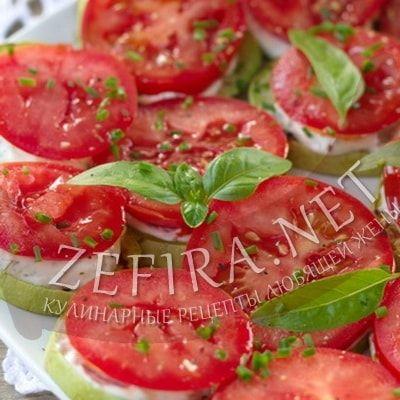 Жареные кабачки с чесноком и помидорами — Кулинарные рецепты любящей жены
