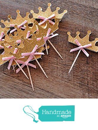 Tiara Cupcake Toppers 12CT. Pink and Gold Birthday Party Decorations. from Confetti Momma http://www.amazon.com/dp/B015YA2HGU/ref=hnd_sw_r_pi_dp_gTKVwb10GTS46 #handmadeatamazon