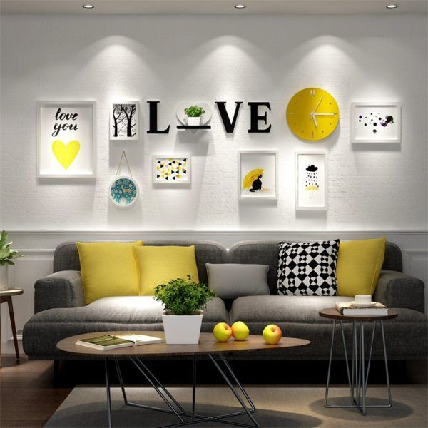 Seems Cozy Couch Colors And All Yellow Decor Living Room Yellow Living Room Living Room Wall