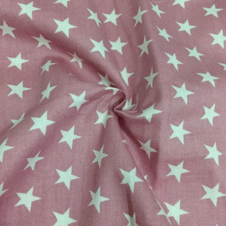 100*160cm new pink with white stars 100% cotton twill cloth DIY for home decor tent textile doll clothes kids shabby chic fabric