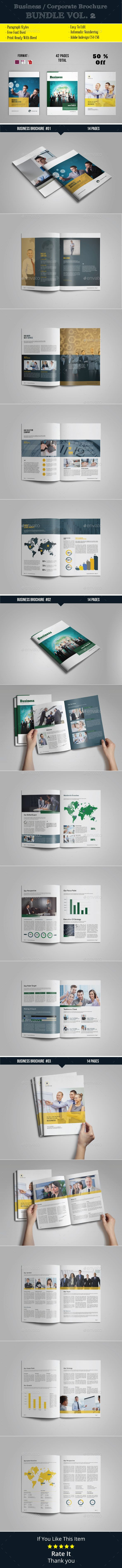 Corporate / Businees Brochure Template InDesign INDD Bundle