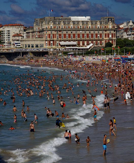 Biarritz, France.. Just on border of Spain .. Best of both worlds .. I loved it ...