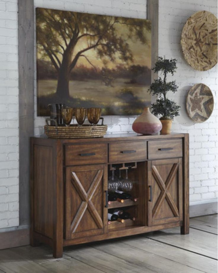 Contemporary Dining Room Chest Of Drawers Patterned Cloth On Table ...